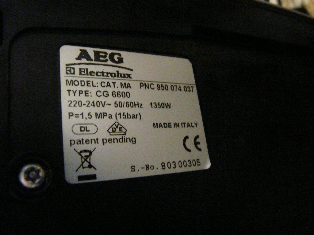 AEG CG6600, Allgemeine Störung (6)