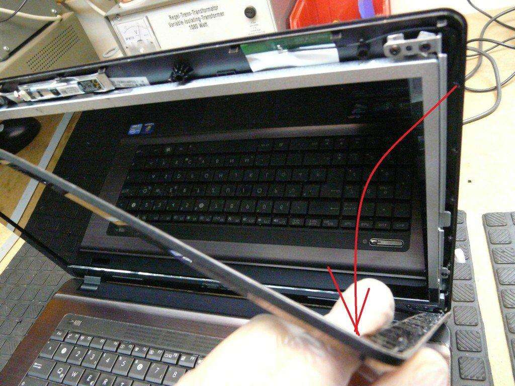 ASUS X73E Display Defekt Display Tauschen (5)