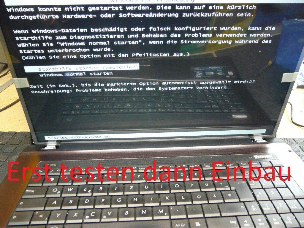 ASUS X73E Display Defekt Display Tauschen (8)