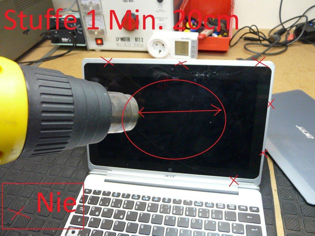 Acer Aspire 10 SW5 Digitizer geplatzt, Display Tauschen (6)