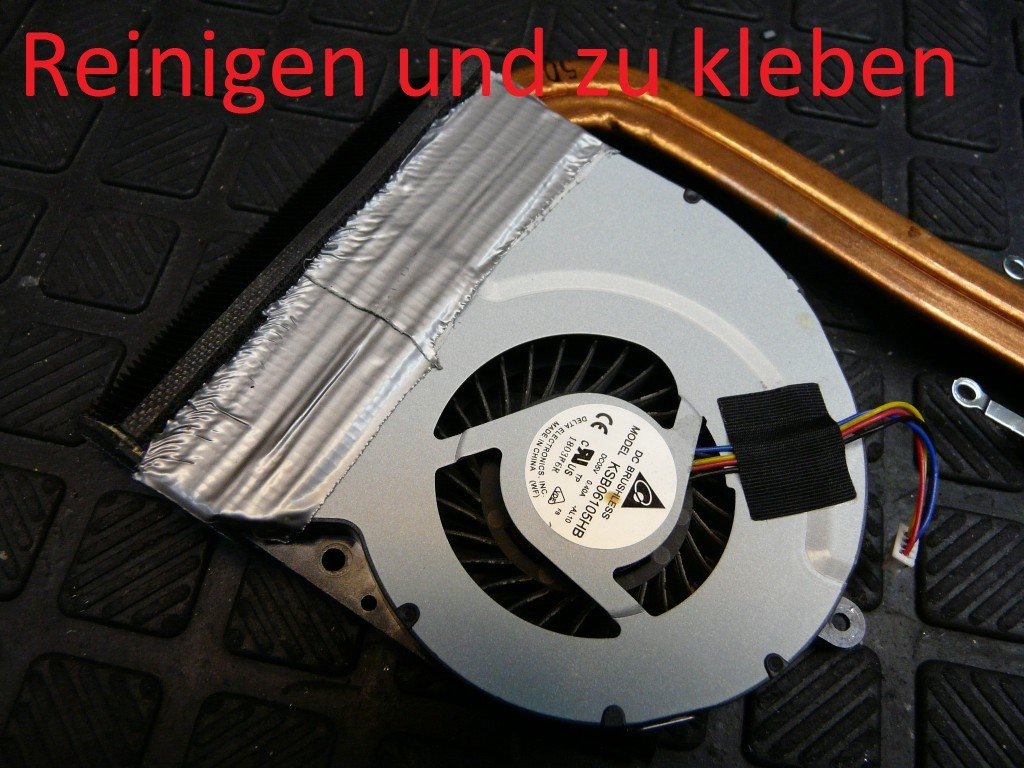 Asus X53S, Lüfter Reinigen Wärmeleitpaste (11)