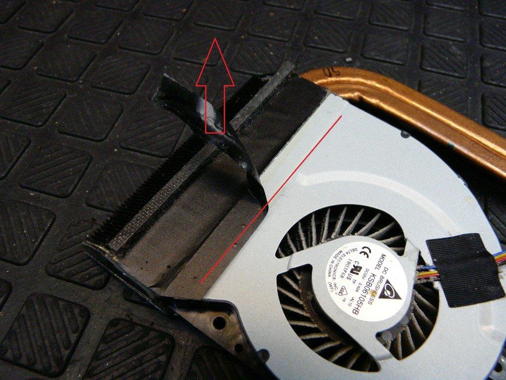 Asus X53S, Lüfter Reinigen Wärmeleitpaste (8)