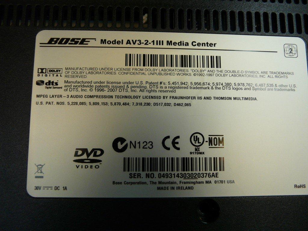 BOSE AV3-2-1III spielt kein DVD (7)