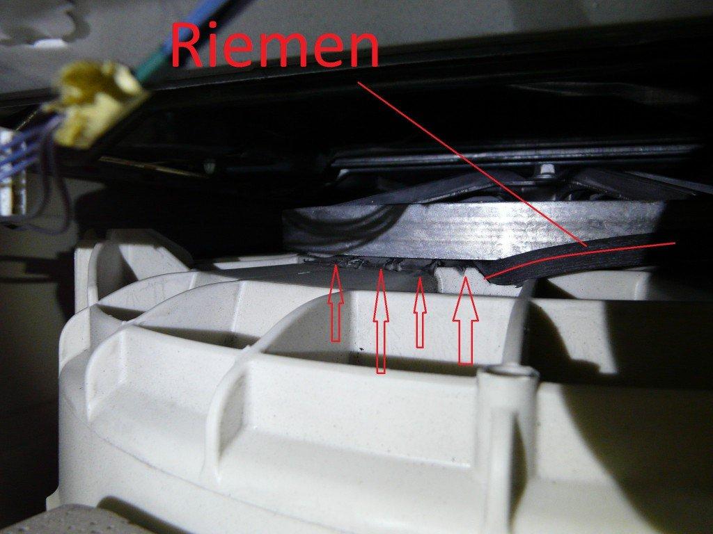 Bauknecht Super Eco 6412 Riemen Schaden (2)