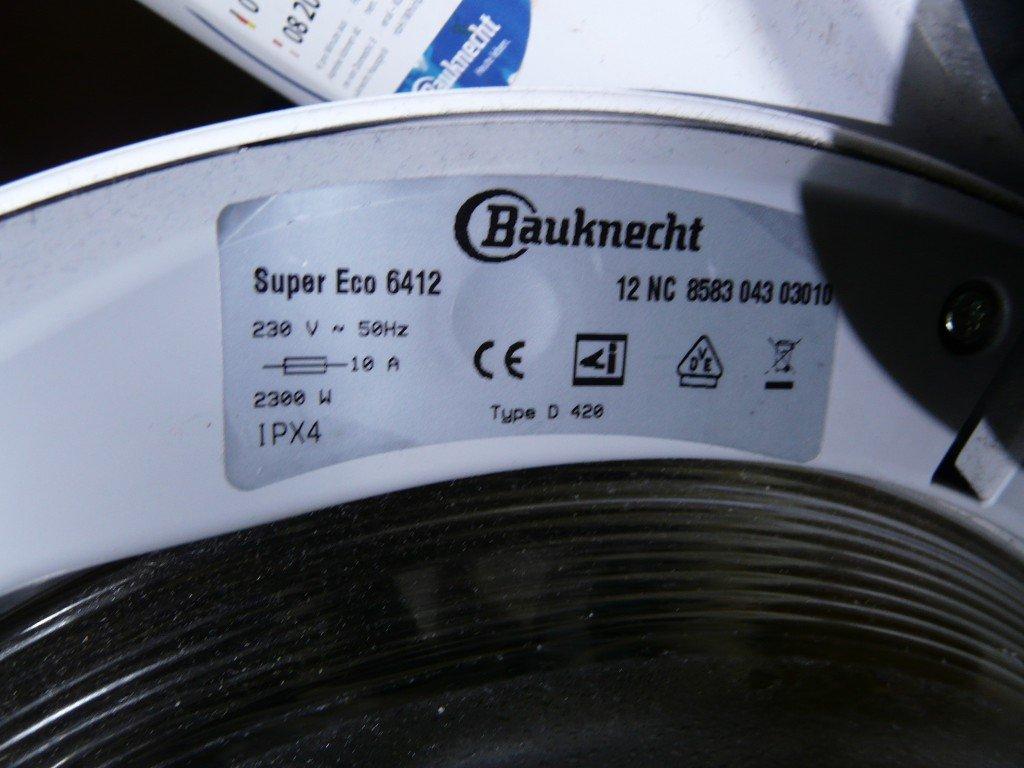 Bauknecht Super Eco 6412 Riemen Schaden (7)