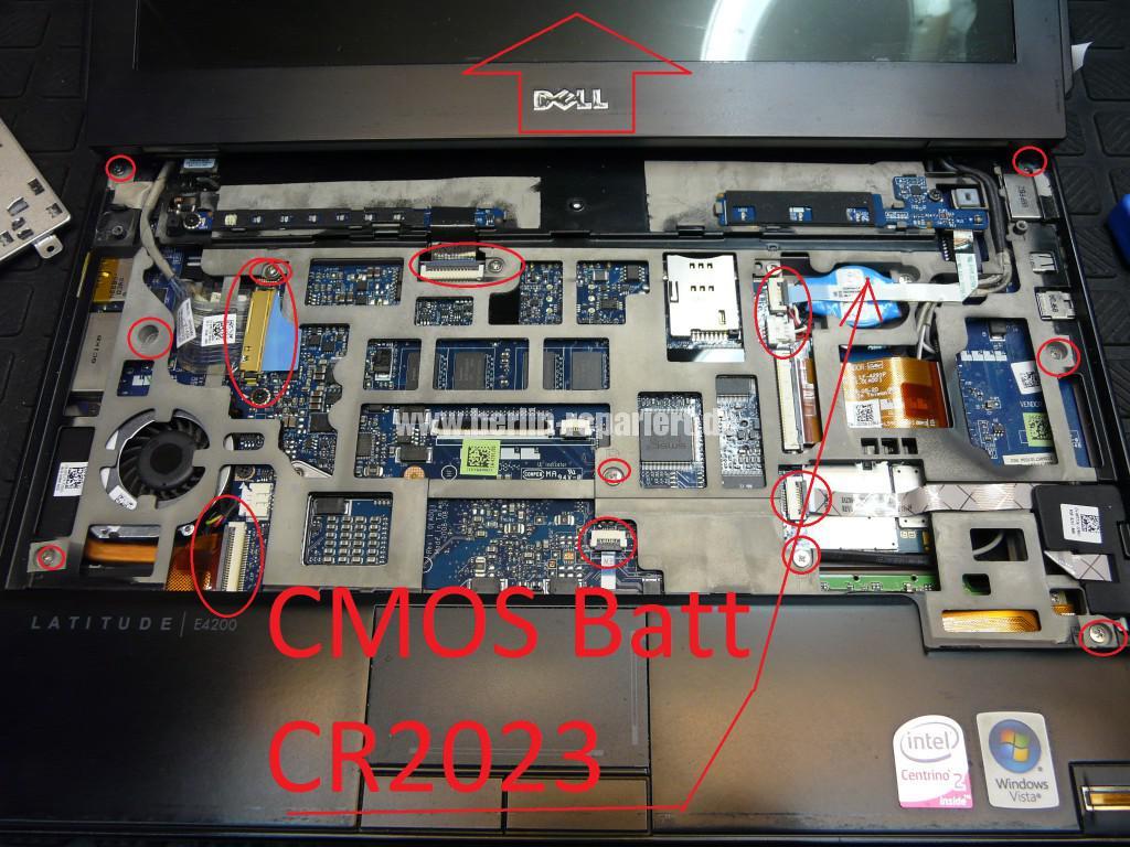 Dell Latitude E4200, Lüfter Defekt, CMOS Batterie (6)