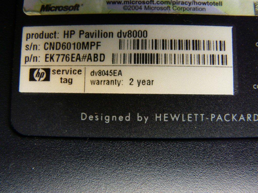 HP Pavilion DV8000 RAM (4)