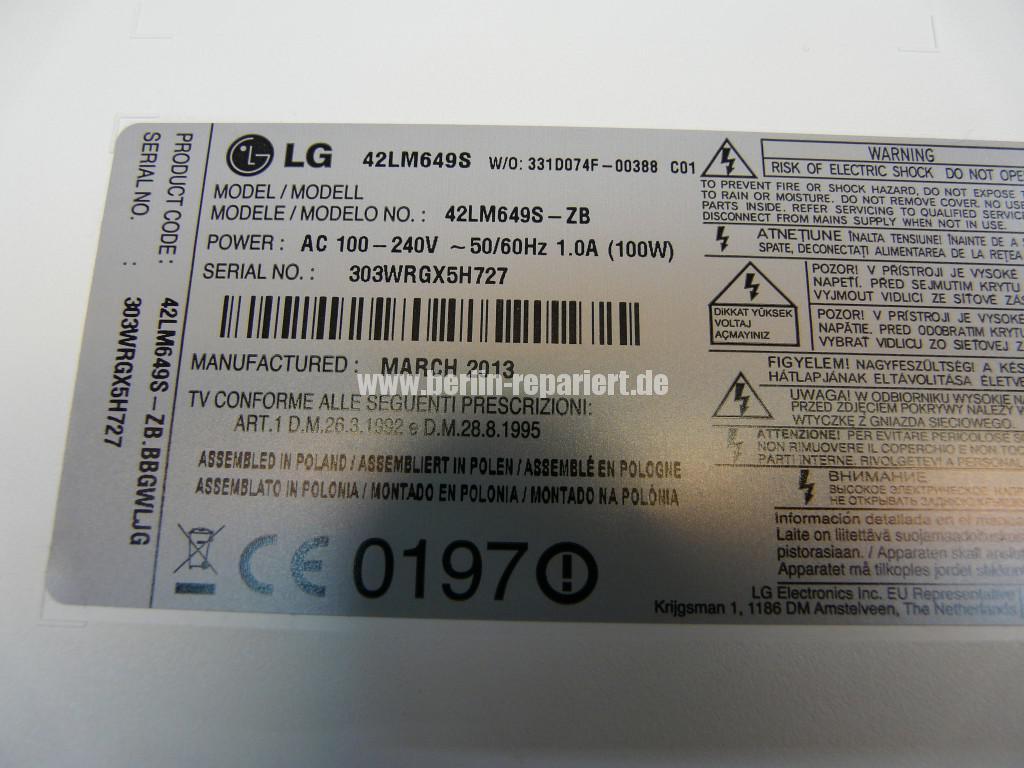 LG 42LM649S, keine Funktion (8)
