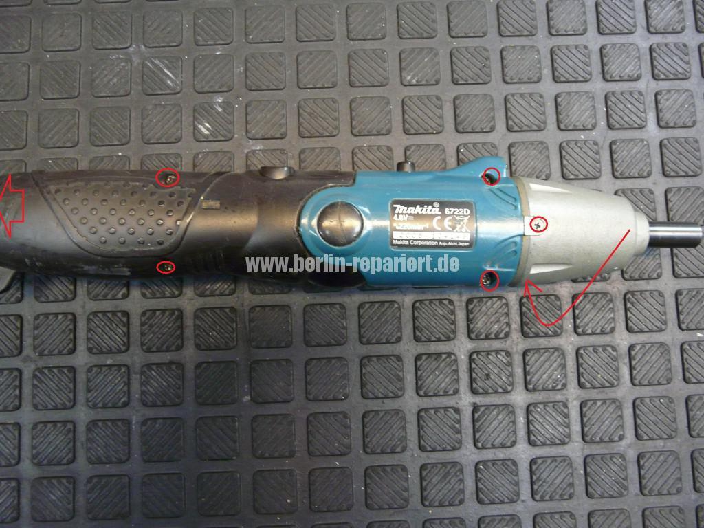 Makita 6722D, Dreht nicht, Schalter Defekt (1)