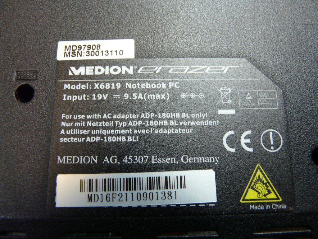 Medion Erazer MD97908 Model X6819 Startet nicht (6)