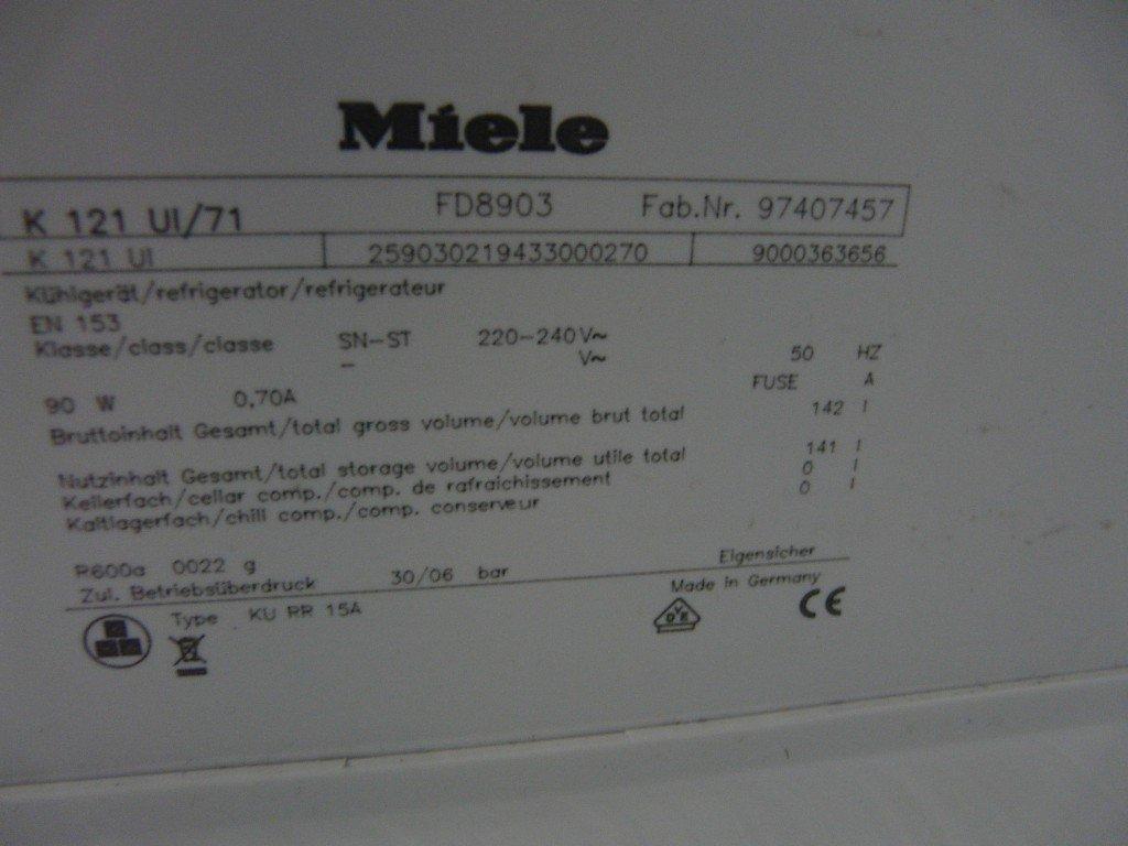 miele k121 fd8903 k hlt nicht mehr thermostat defekt leon s blog. Black Bedroom Furniture Sets. Home Design Ideas