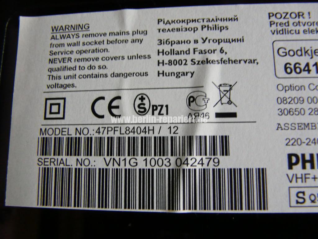 Philips 47PFL8404H, keine Funktion (8)