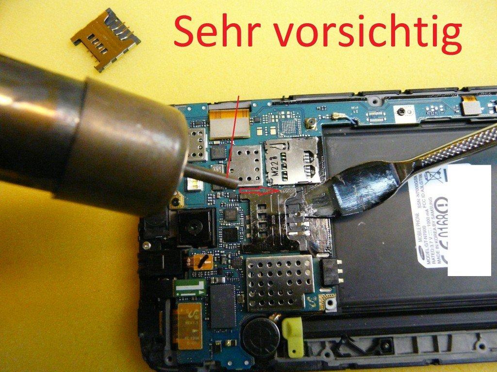 Samsung Galaxy N7000 GT-N7000 SIM Kard Defekt (8)