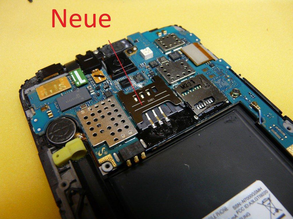 Samsung Galaxy N7000 GT-N7000 SIM Kard Defekt (9)