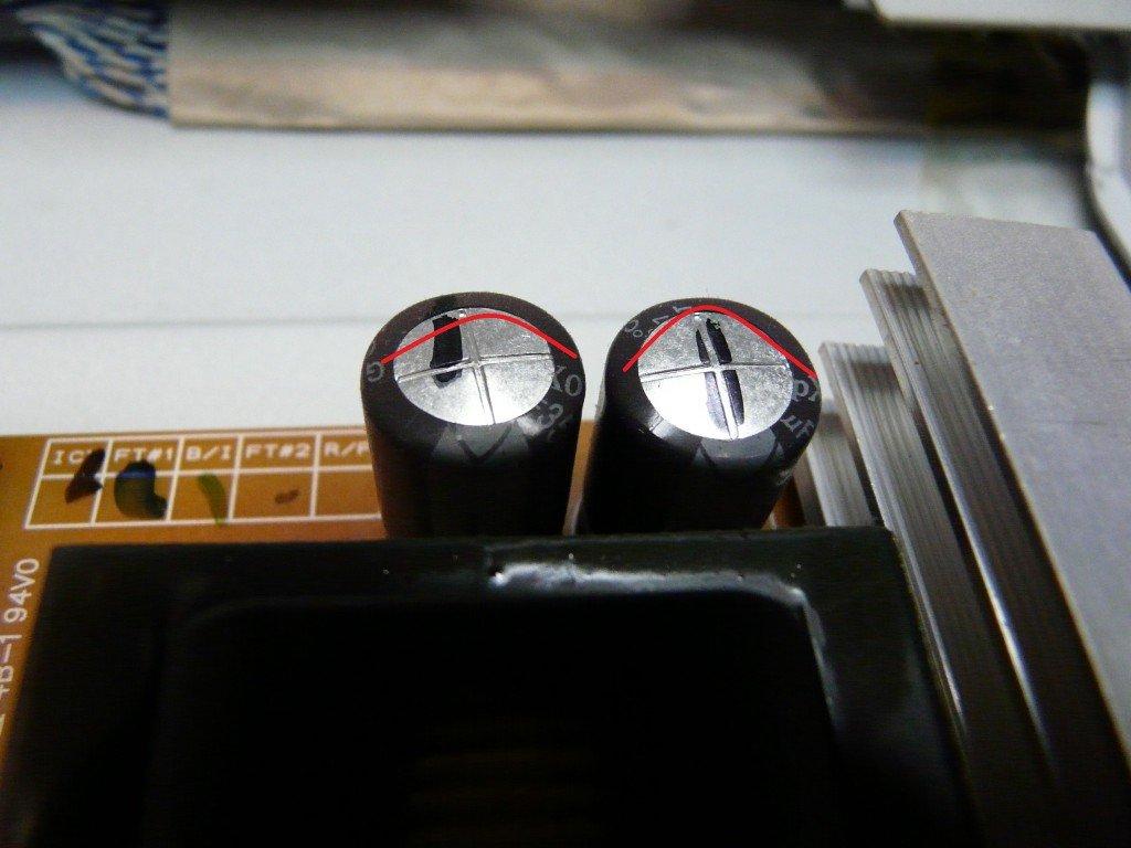 Samsung LE37M87 geht schwer an, kondensatoren defekt (6)