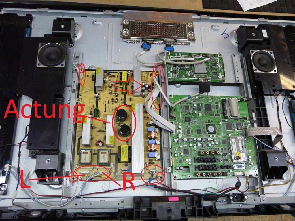 samsung le46f86bd keine funktion kondensatoren defekt netzteil leon s blog. Black Bedroom Furniture Sets. Home Design Ideas