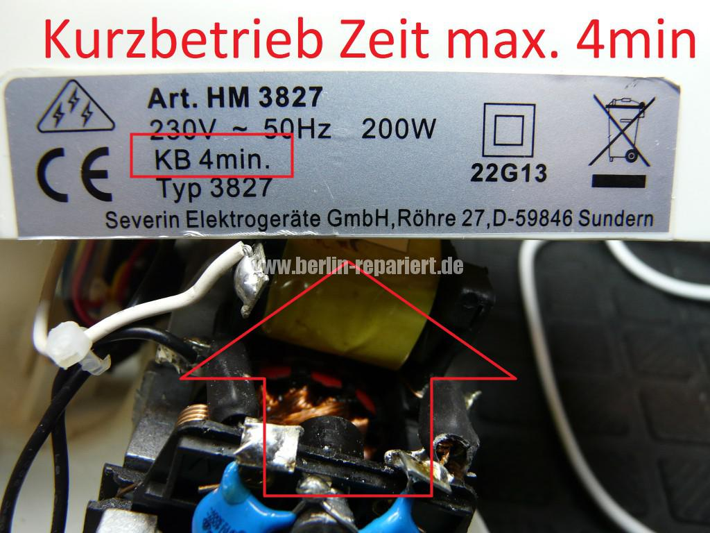 Severin HM 3827, keine Funktion, Durchgebrannt (6)