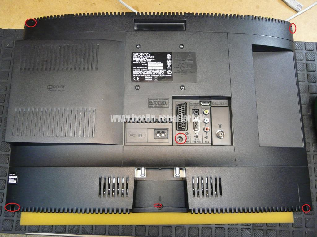 Sony KDL-22BX20D, kein Bild (3)