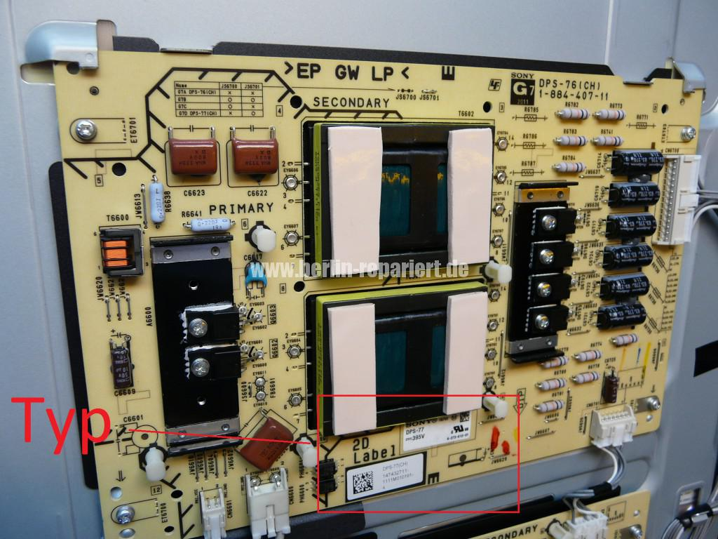 Sony KDL-55HX925, geht an dann aus, Blinkt 4x (6)