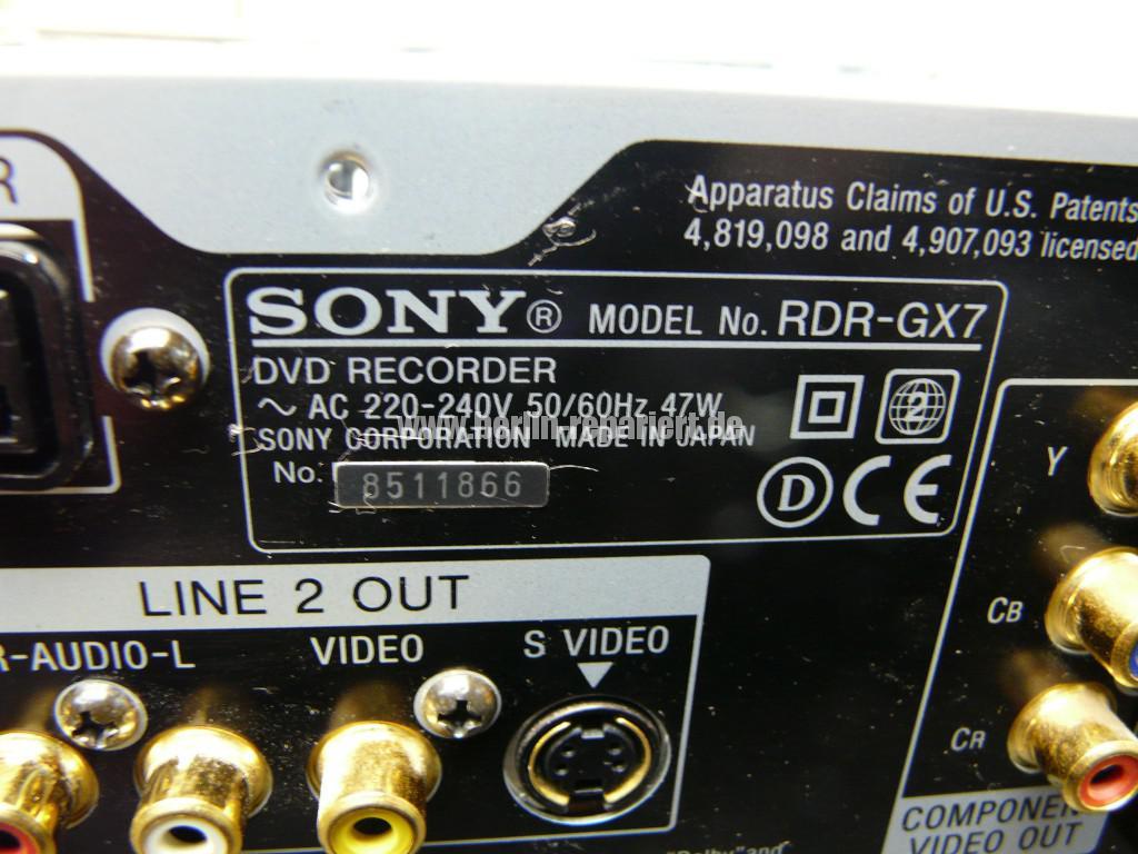 Sony RDR-GX7, Aufnahme Störung (7)