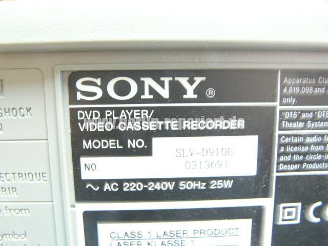 Sony SLV-D910E Kassete kommt nicht raus (4)