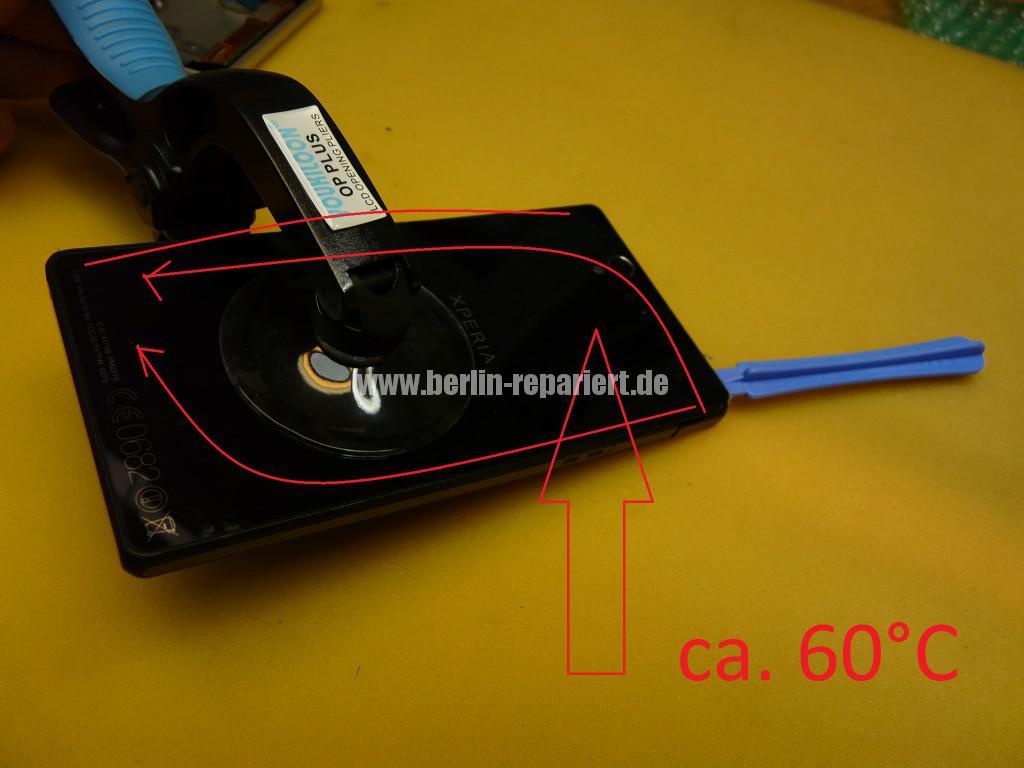Sony Xperia C6603, Display Defekt (2)