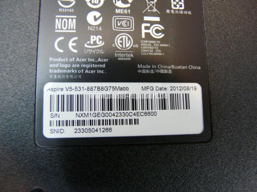 ACER Aspire V5-531, Display Defekt (9)