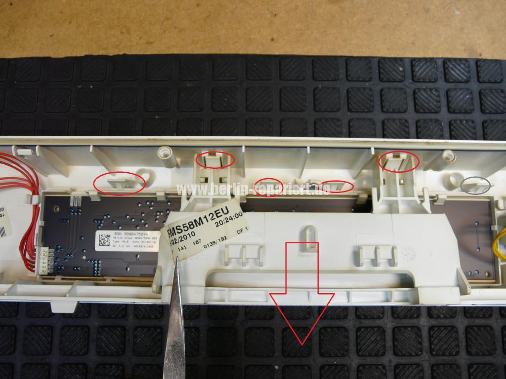 Bosch SMS58M, verliert Wasser, Start Taste Defekt (2)