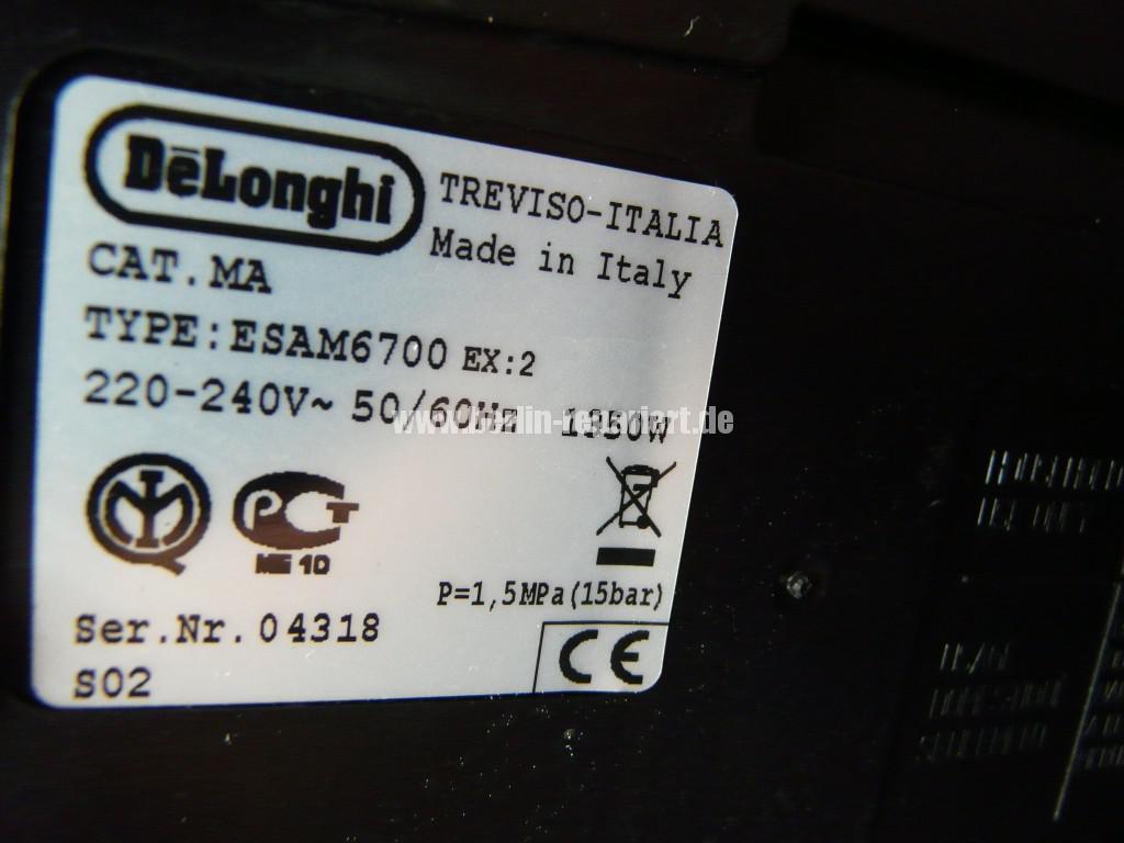 Delonghi Primadonna ESAM6700, Allgemeine Störung (7)