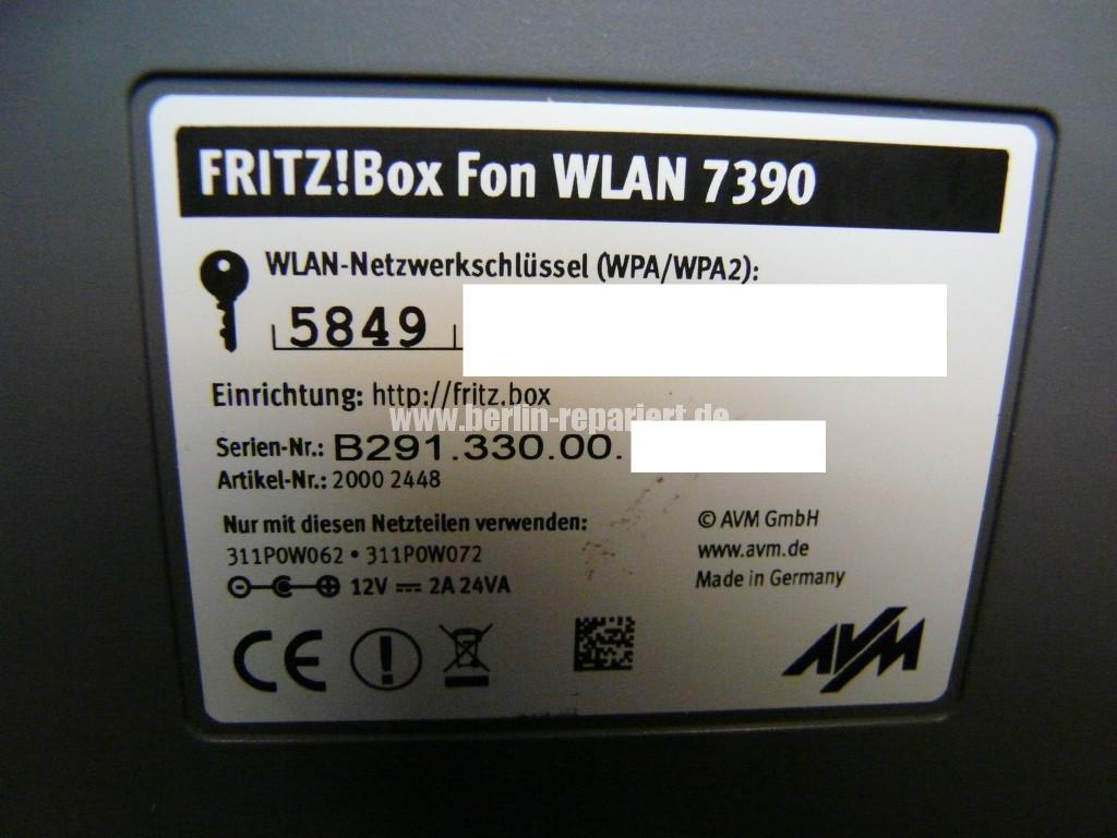 Fritz Box Fon WLAN 7390, Störung (9)