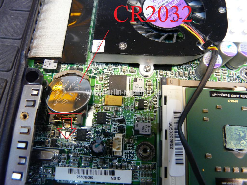 Fujitsu Amilo A1645, Bios Batterie (4)