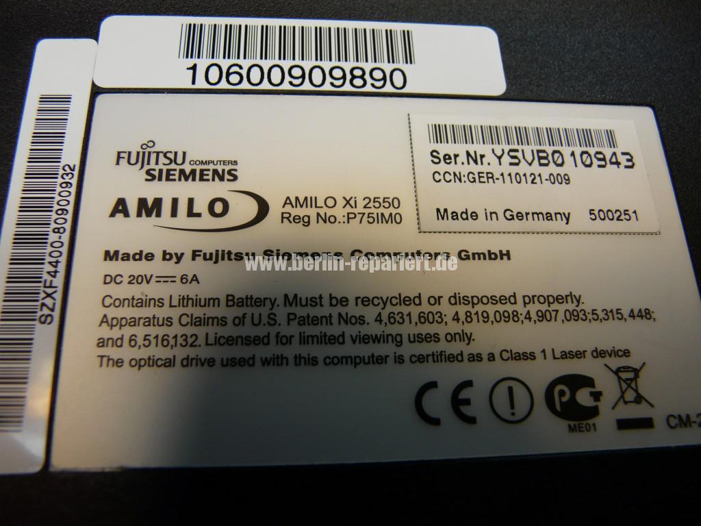 Fujitsu Siemens Amilo Xi2550, Startet nicht, kein Bild (11)