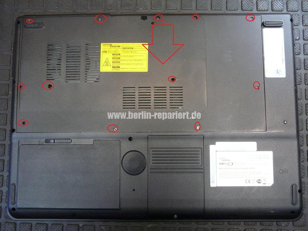 Fujitsu Siemens Amilo Xi2550, Startet nicht, kein Bild (4)
