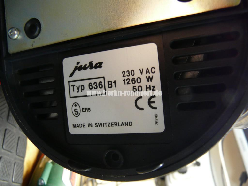 Jura Nespresso Typ636, zieht kein Wasser (7)