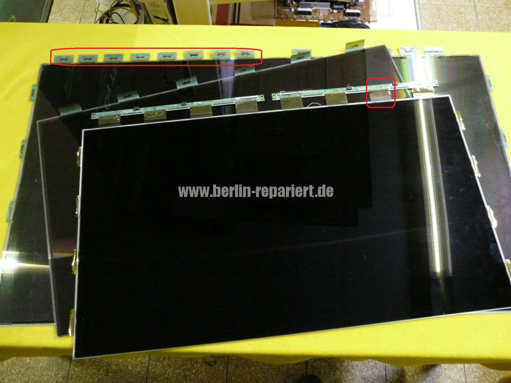 led display lcd display defekt we repair wir reparieren. Black Bedroom Furniture Sets. Home Design Ideas