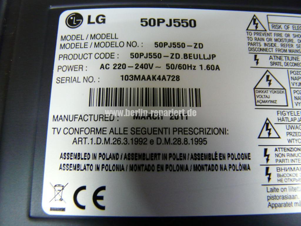 LG 50PJ550, keine Funktion (10)