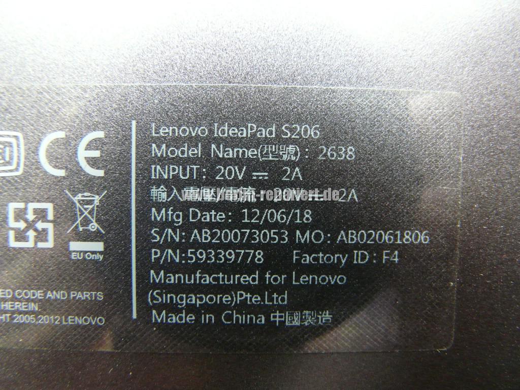 Lenovo IdeaPad S206, kein Bild (10)