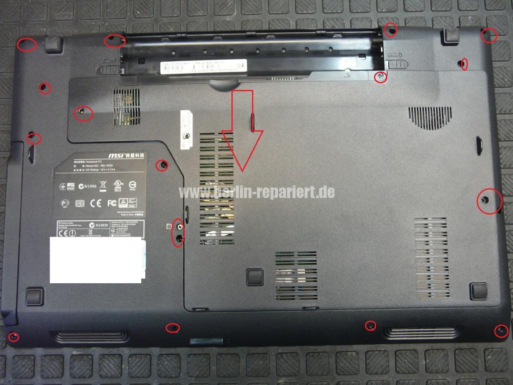 MSI MS-16GD, Akku wird nicht geladen, kein Strom über den Externen Netzteil (2)