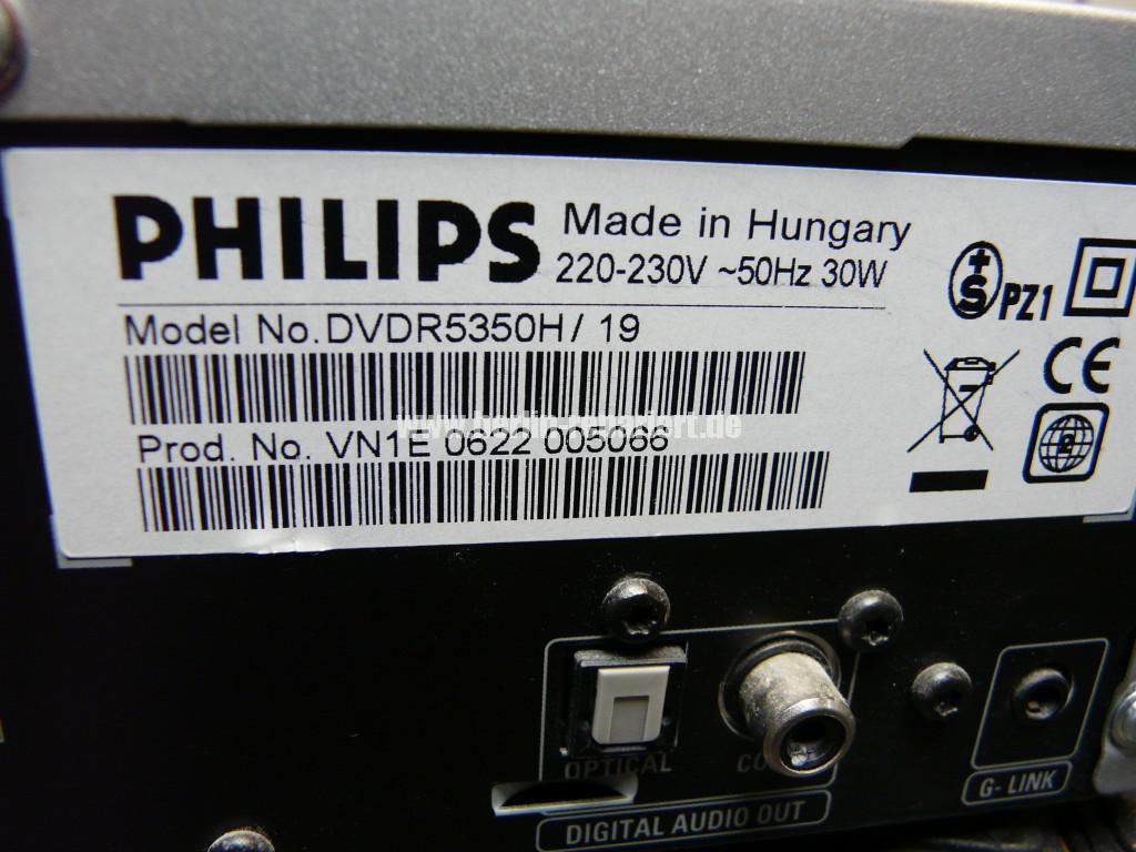 Philips DVDR5350H, keine Funktion (7)