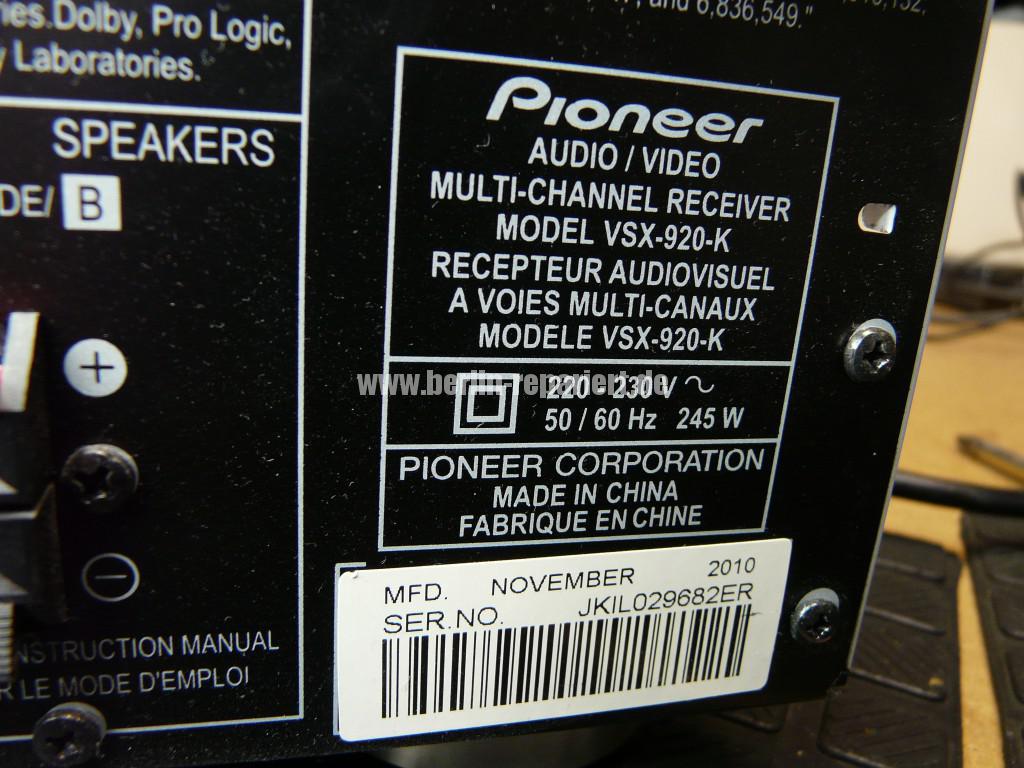 Pioneer VSX-920-K, schlechte Bedienung (12)