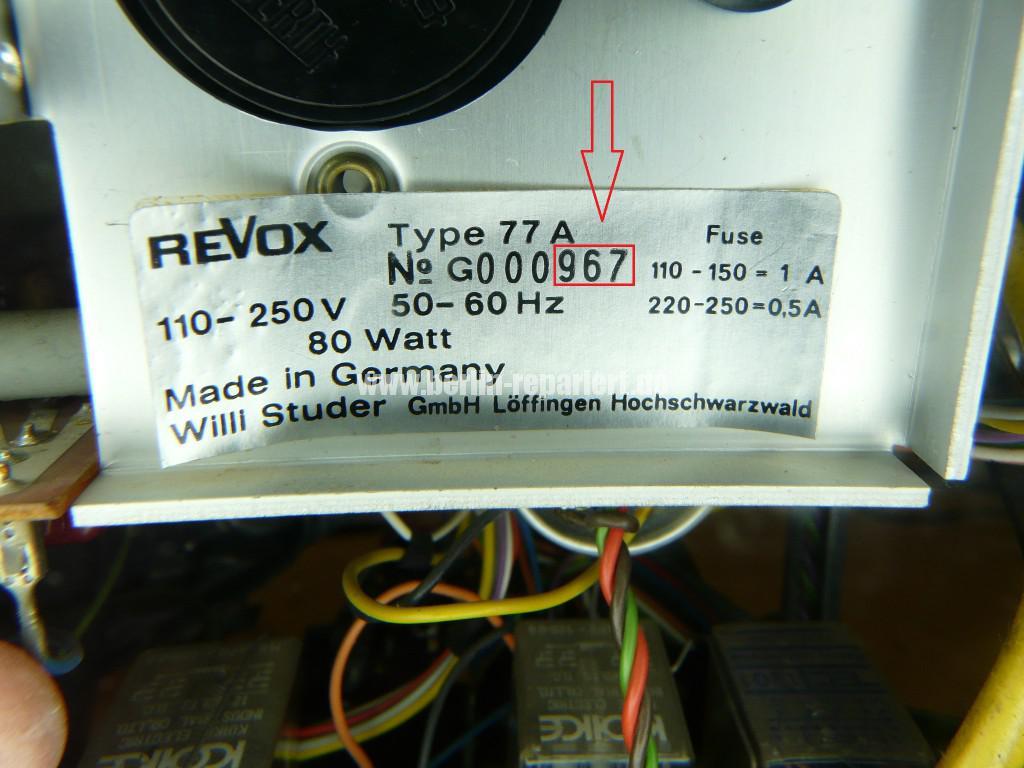 REVOX A77, General Sanierung (5)