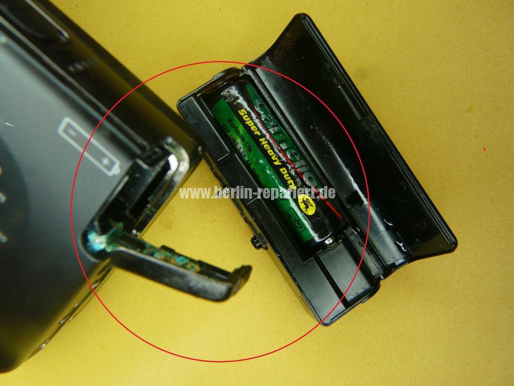 SONY WM-EX70, Batterie ist ausgelaufen, Laufwerk klemmt (2)
