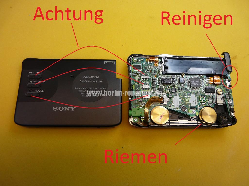 SONY WM-EX70, Batterie ist ausgelaufen, Laufwerk klemmt (3)