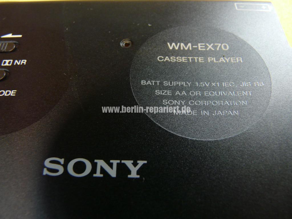 SONY WM-EX70, Batterie ist ausgelaufen, Laufwerk klemmt (5)