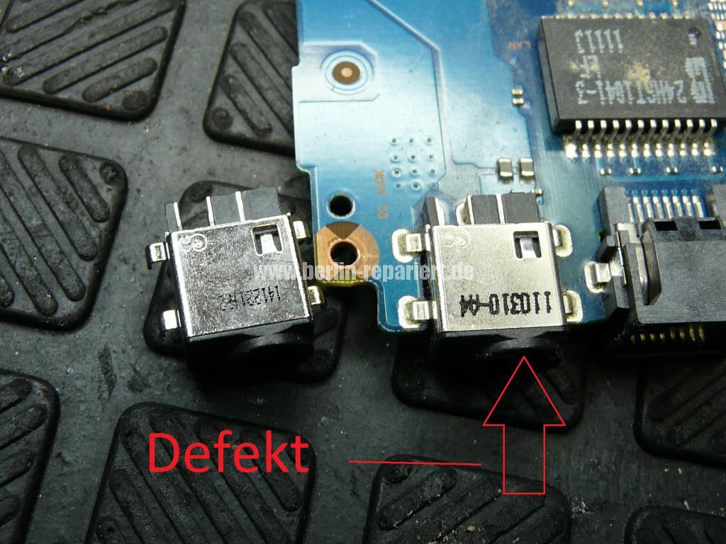 Samsung R520, Netzbuchse Defekt, kein Bild (2)