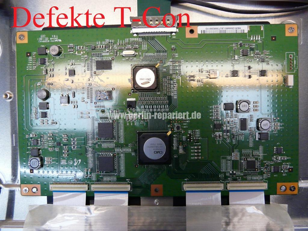 Samsung UE40B7090WP, bunte Steifen in Bild, T Con Modul Defekt(5)