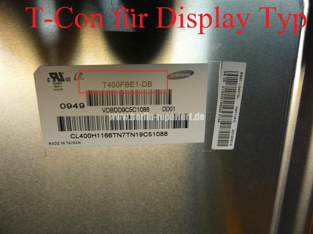 Samsung UE40B7090WP, bunte Steifen in Bild, T Con Modul Defekt(6)