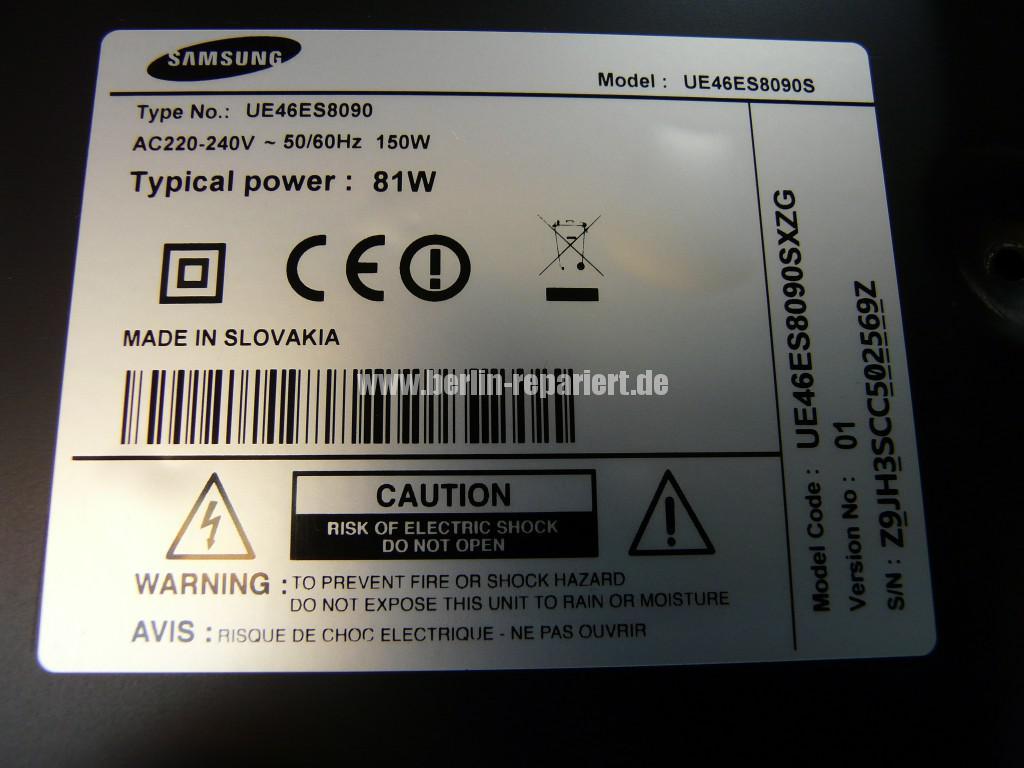 Samsung UE46ES8090S, kein Bild, geht aus (12)