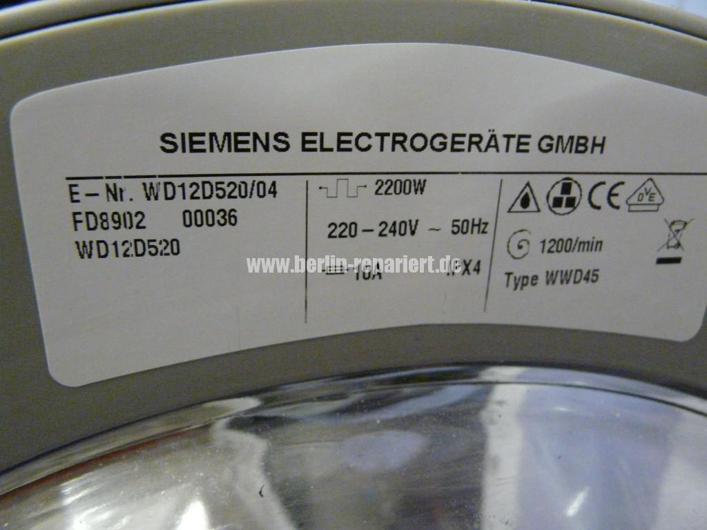 Siemens D12-52, WD12D520, AKO 734032-00, Bedienung ist verstellt (7)