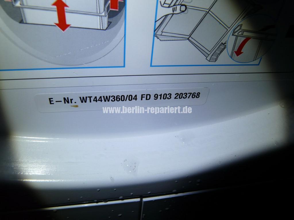 Siemens WT44W360, Verstopft (8)